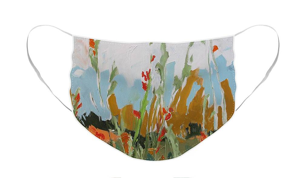 Art Face Mask featuring the painting Brambles by Linda Monfort