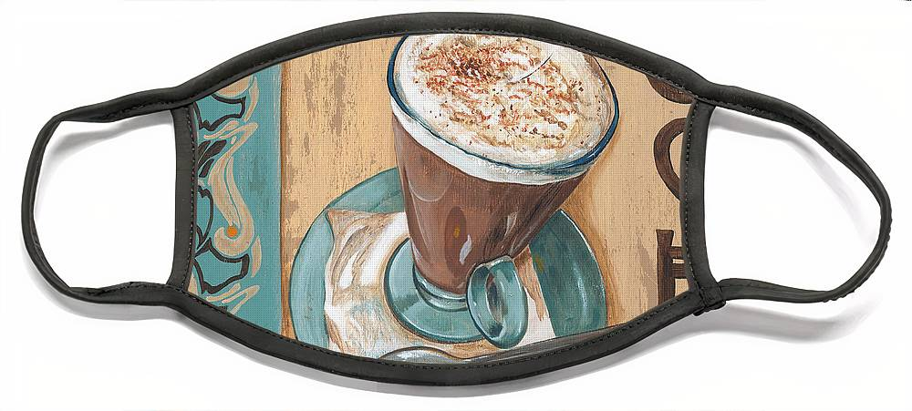 Food Face Mask featuring the painting Cafe Nouveau 1 by Debbie DeWitt