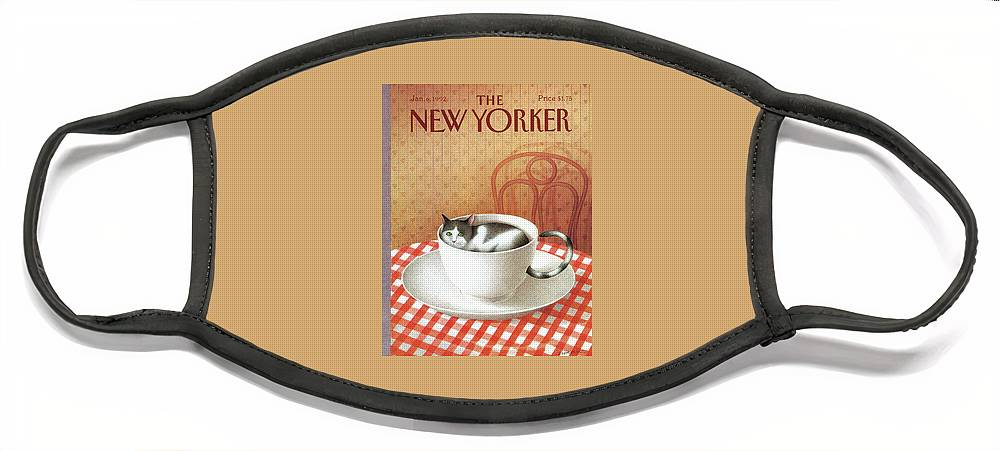New Yorker January 6, 1992 Face Mask