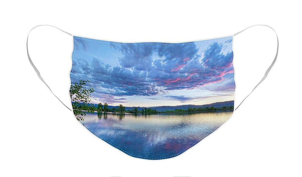 Reflections Face Mask featuring the photograph Coot Lake View by James BO Insogna