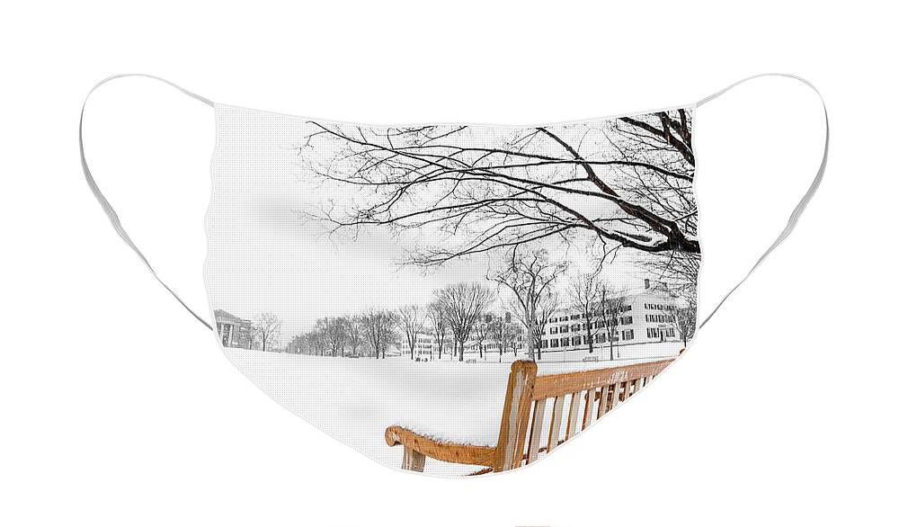Dartmouth Face Mask featuring the photograph Dartmouth Winter Wonderland by Edward Fielding