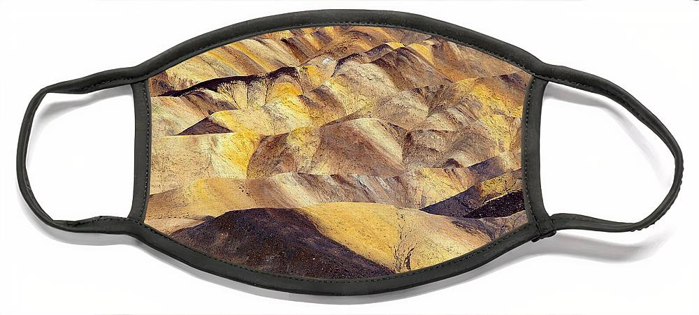 Zabriskie Point Face Mask featuring the photograph Desert Undulations by Mike Dawson