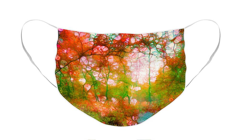 Autumn Face Mask featuring the photograph Distortions of Autumn by Tara Turner