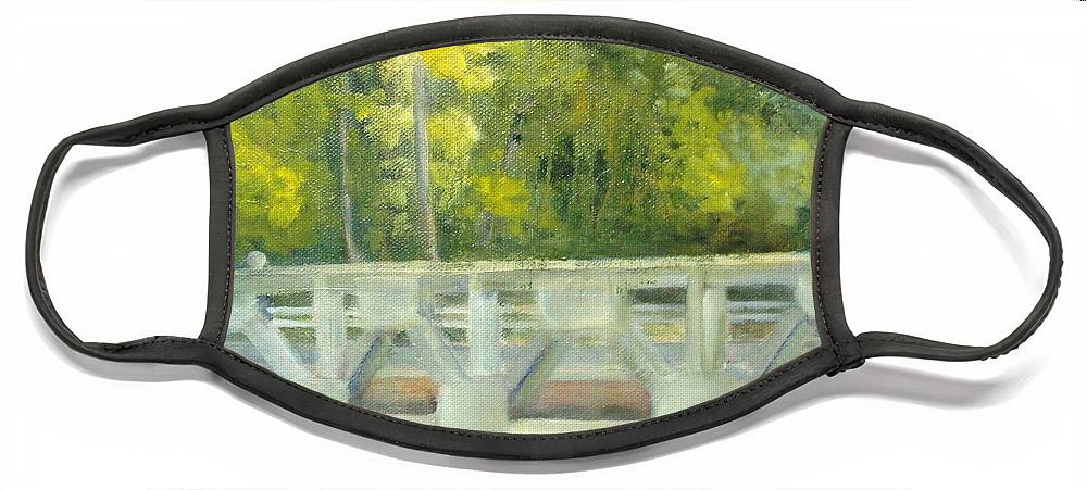 Smithville Park Face Mask featuring the painting Do You Paint Fish? by Sheila Mashaw