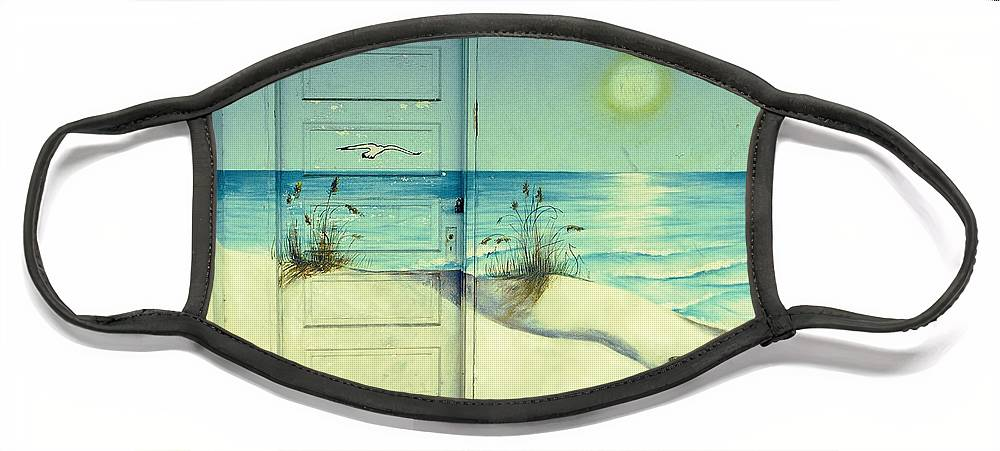 Architecture Face Mask featuring the photograph Door of Perception by Skip Hunt