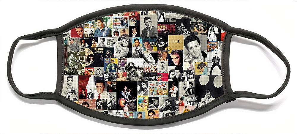 Elvis Presley Face Mask featuring the digital art Elvis The King by Zapista OU