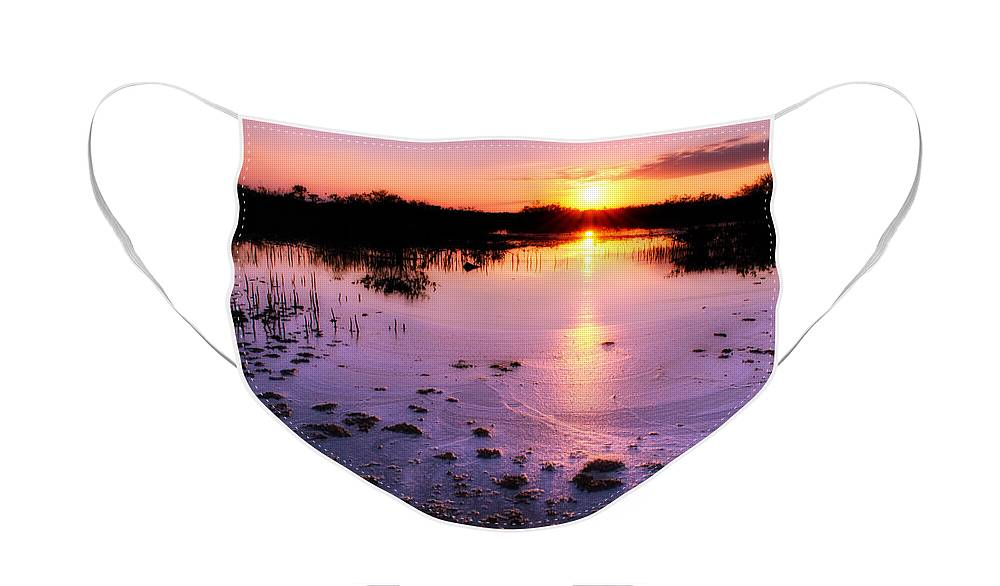 Background Face Mask featuring the photograph Estero Bay Salt Marsh by Rich Leighton