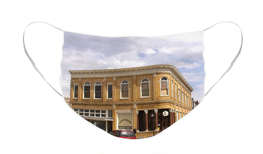 Historical Face Mask featuring the photograph Everett Building by Paul Anderson