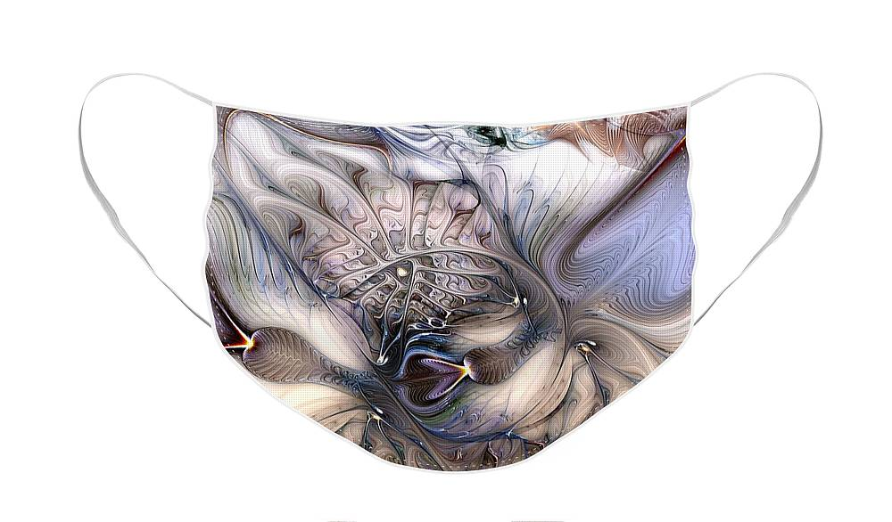 Abstract Face Mask featuring the digital art Extrinsic To Everything by Casey Kotas