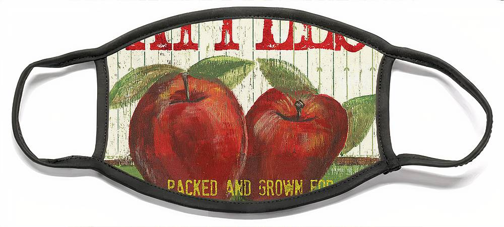 Food Face Mask featuring the painting Farm Fresh Fruit 3 by Debbie DeWitt