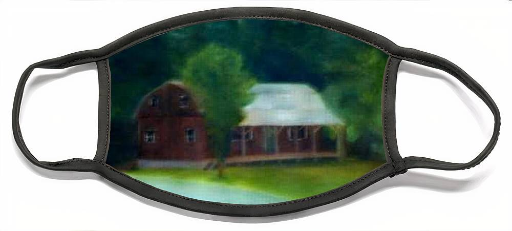 Upstate Face Mask featuring the painting Forrest's House by Sheila Mashaw