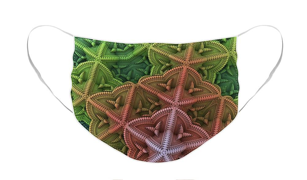 Fractal Face Mask featuring the digital art Fractal Starfish by Lyle Hatch