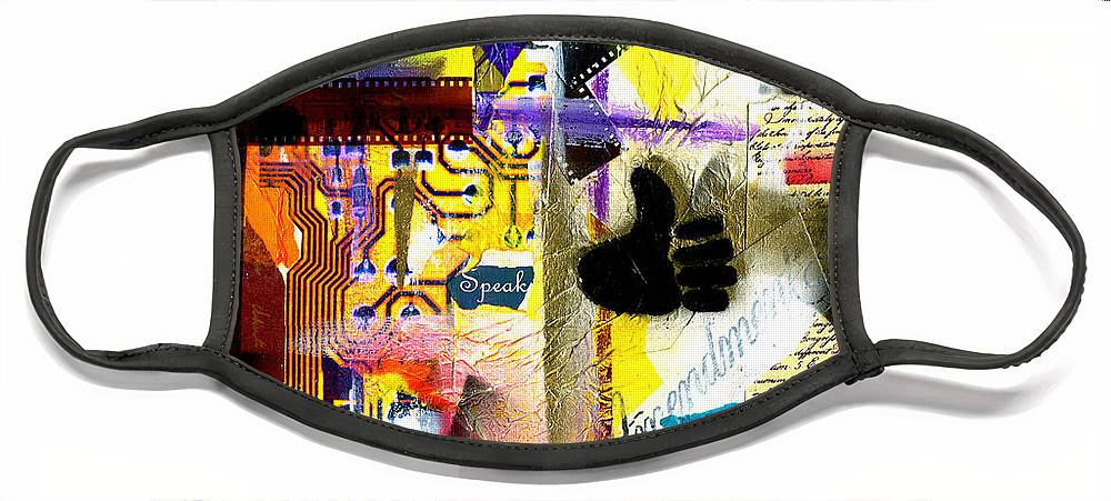 Everett Spruill Face Mask featuring the painting Freedom of Speech 2 by Everett Spruill
