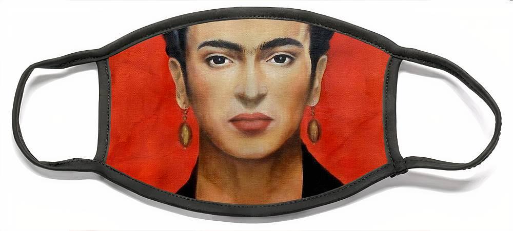 Frida Face Mask featuring the painting Frida Kahlo by Yelena Day