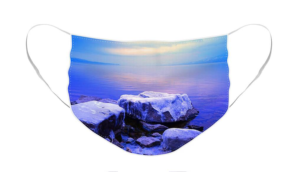 Winter Face Mask featuring the photograph Frozen Sunrise by Tara Turner