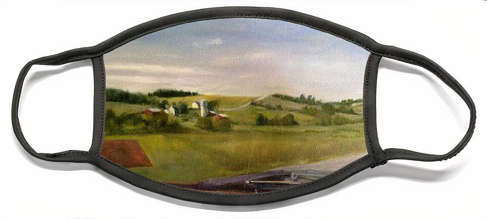 Car Face Mask featuring the painting Going Home by Sheila Mashaw