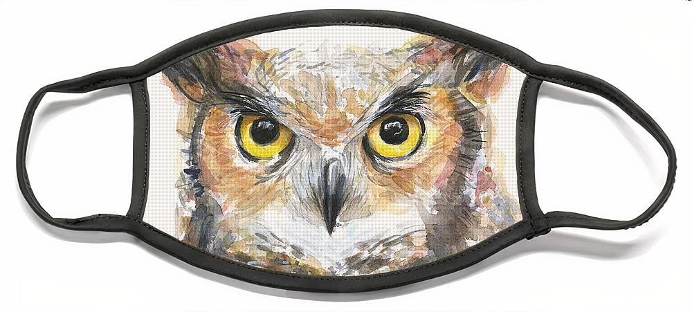 Horned Owl Face Masks