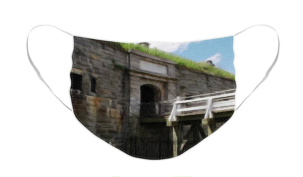 Canadian Face Mask featuring the painting Halifax Citadel by Jeffrey Kolker