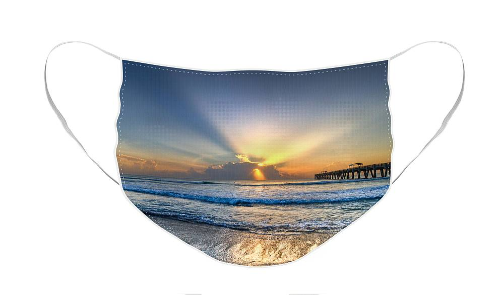 Palm Face Mask featuring the photograph Heaven's Door by Debra and Dave Vanderlaan