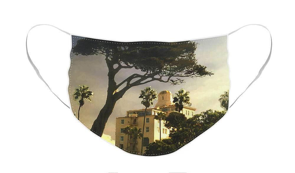 Landscape Face Mask featuring the photograph Hotel California- La Jolla by Steve Karol