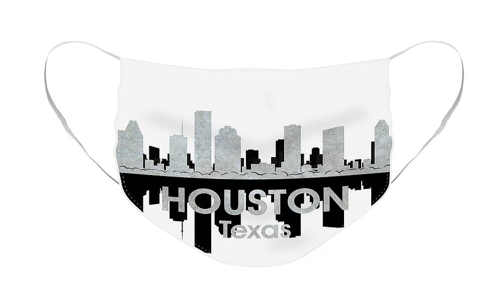 Houston Face Mask featuring the mixed media Houston TX 4 by Angelina Tamez