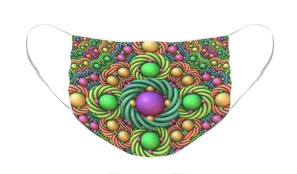 Fractal Face Mask featuring the digital art Just in Time For Easter by Lyle Hatch