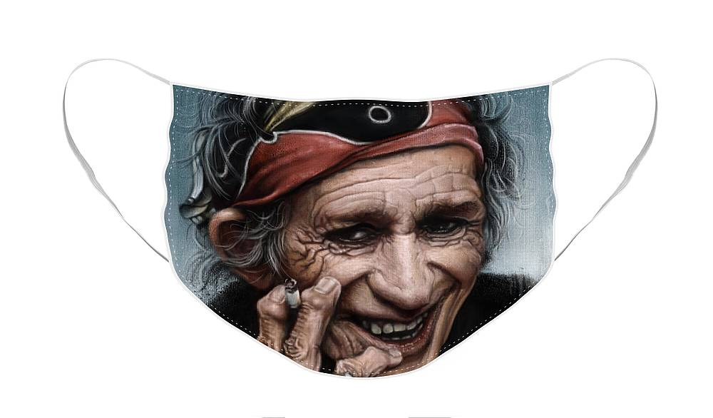 Rolling Stones Keith Richards Face Masks