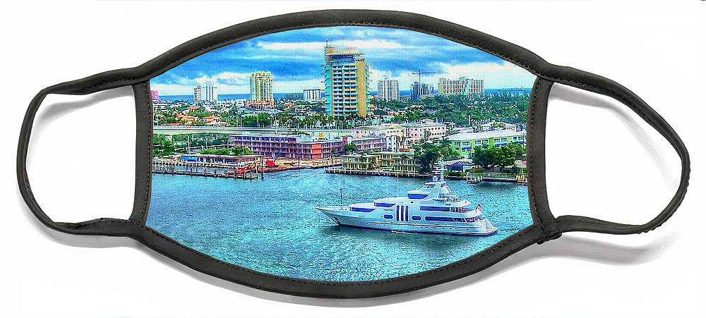 Ft. Lauderdale Face Mask featuring the photograph Lauderdale by Debbi Granruth