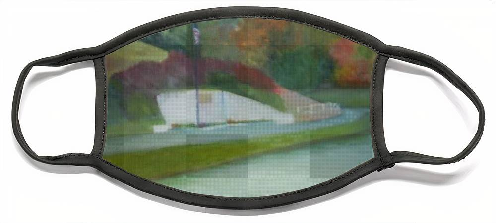 Park Face Mask featuring the painting Laurel Acres by Sheila Mashaw