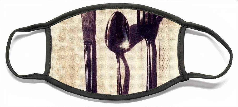 Forks Face Mask featuring the photograph Lets Eat by Jane Linders