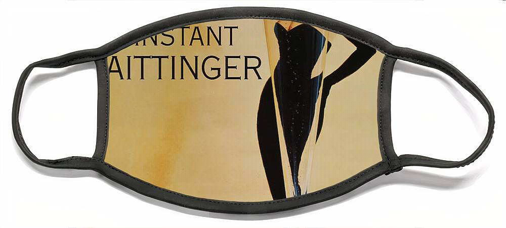 L'instant Taittanger Face Mask featuring the digital art L'Instant Taittinger by Georgia Fowler