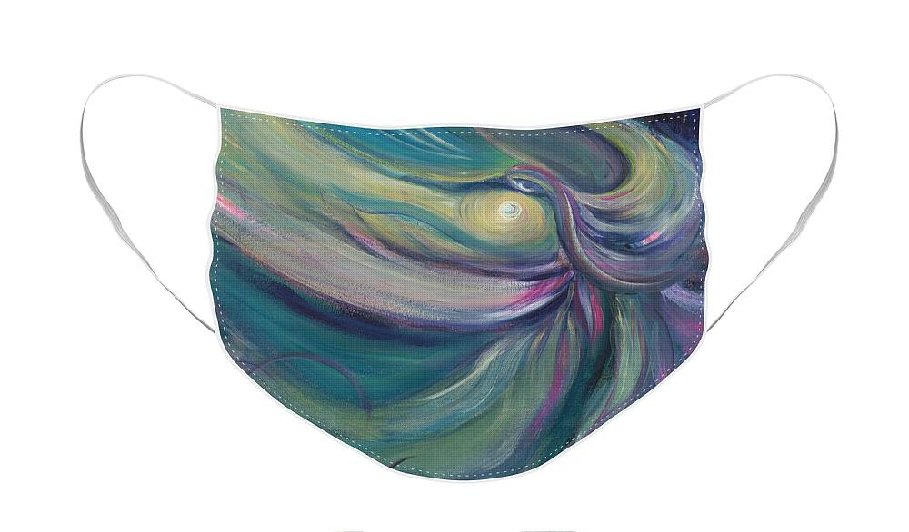 Dance Face Mask featuring the painting Liturgical Dance by Nadine Rippelmeyer