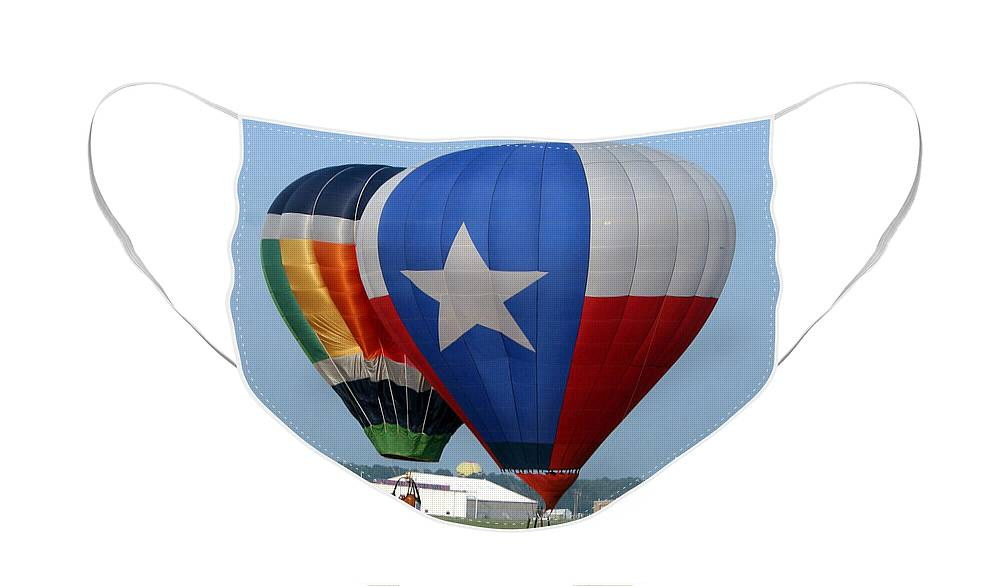 Balloons Face Mask featuring the photograph Lone Star Pride by Paul Anderson