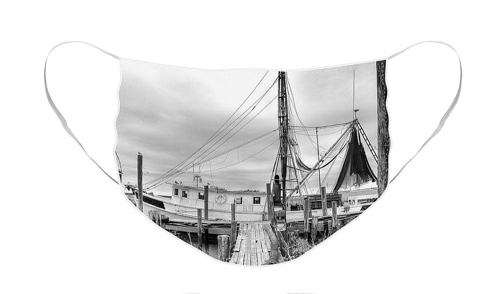 Shrimp Boat Face Mask featuring the photograph Lowcountry Shrimp Boat by Scott Hansen