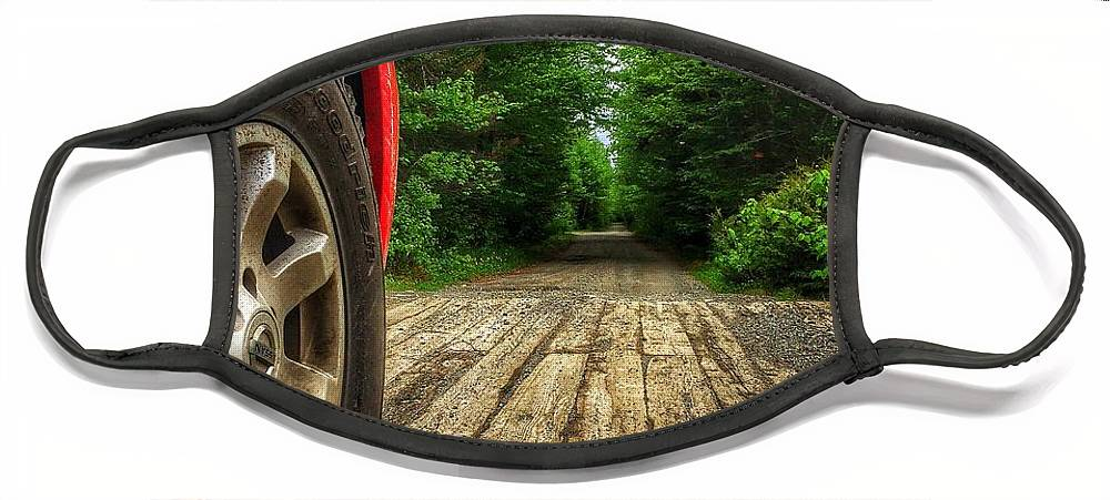Trucks Face Mask featuring the photograph Maine Roads by Nick Heap