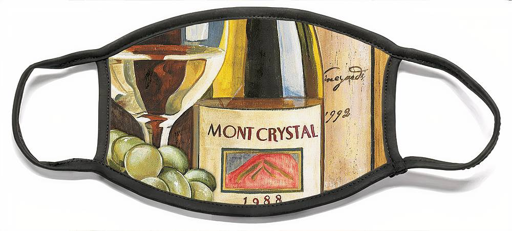 Green Grapes Face Mask featuring the painting Mont Crystal 1988 by Debbie DeWitt
