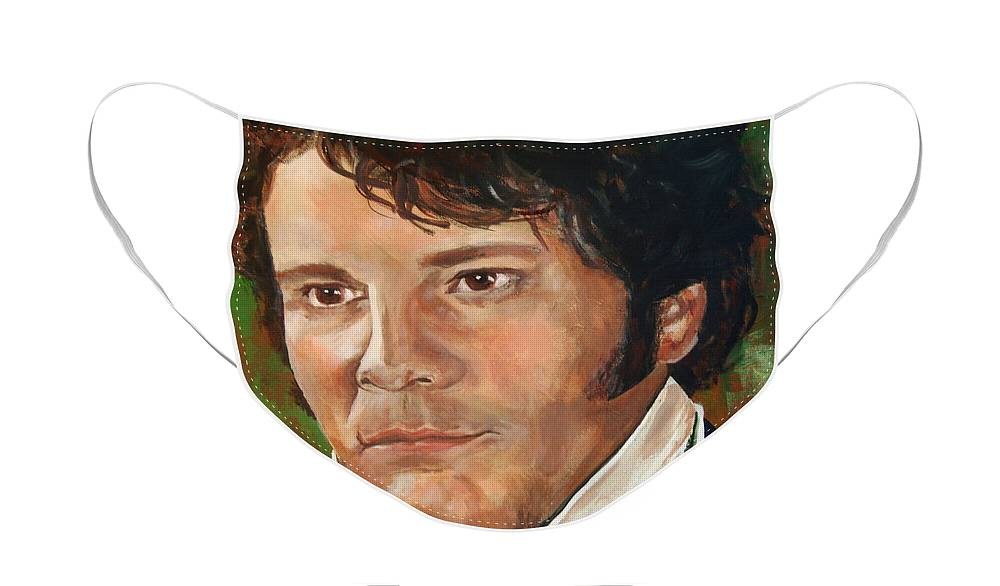 Mr. Darcy Face Mask featuring the painting Mr. Darcy by Noelle Rollins