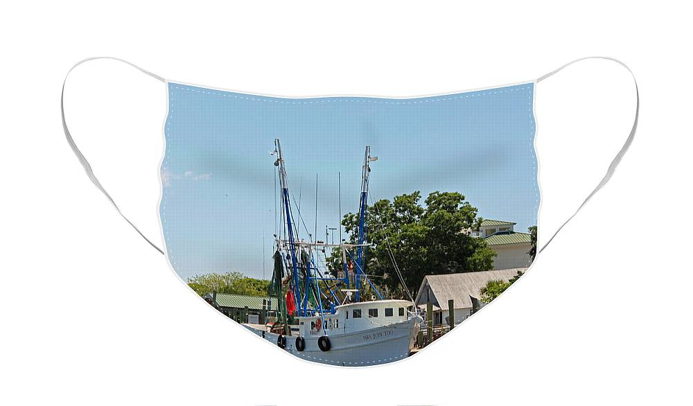 Shrimp Boat Face Mask featuring the photograph Mrs Judy Too by Suzanne Gaff