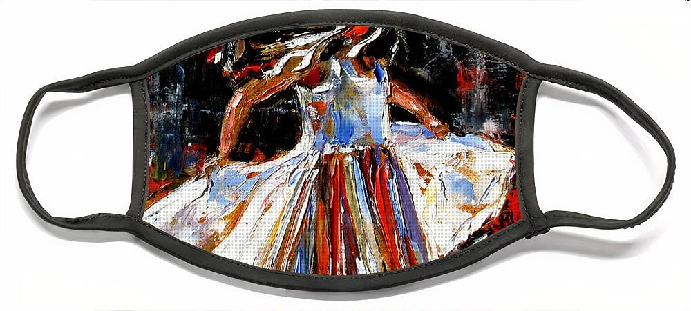Child Face Mask featuring the painting My Dress by Debra Hurd