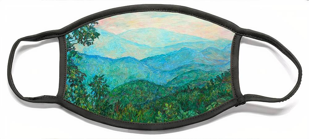 Landscape Face Mask featuring the painting Near Purgatory by Kendall Kessler