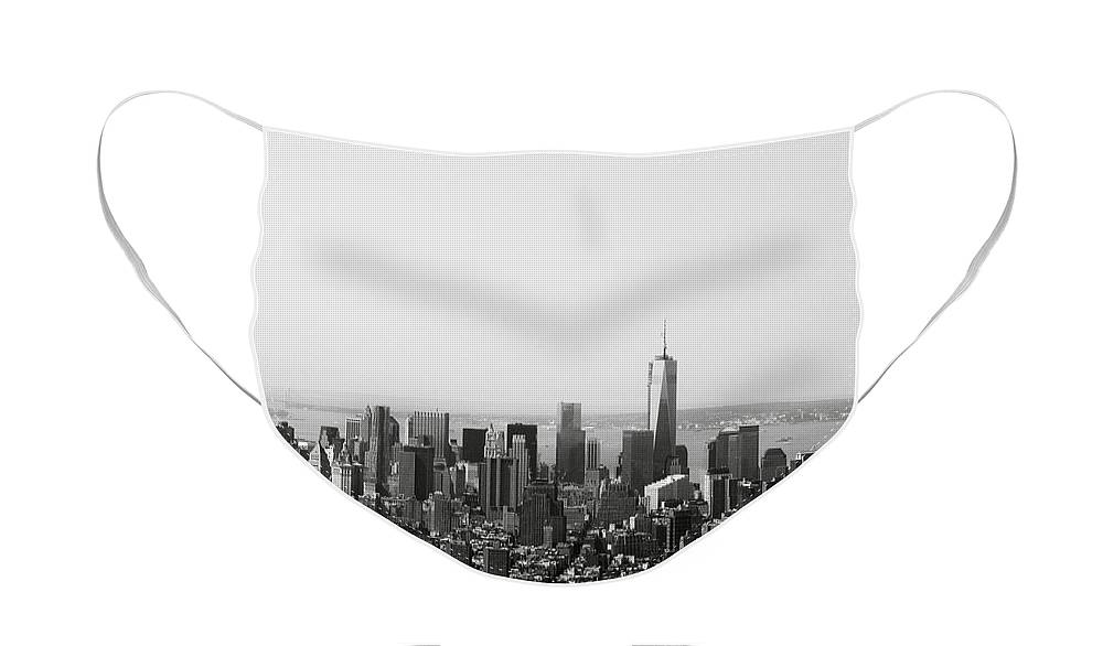 New York Face Mask featuring the photograph New York City by Linda Woods