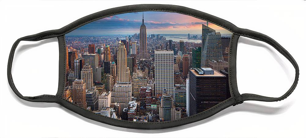 America Face Mask featuring the photograph New York New York by Inge Johnsson
