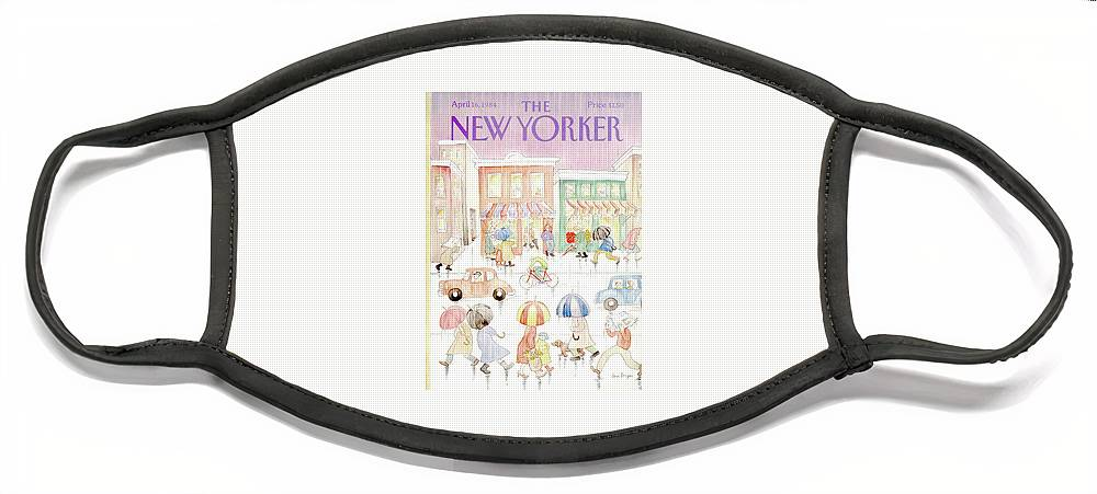 New Yorker April 16th, 1984 Face Mask