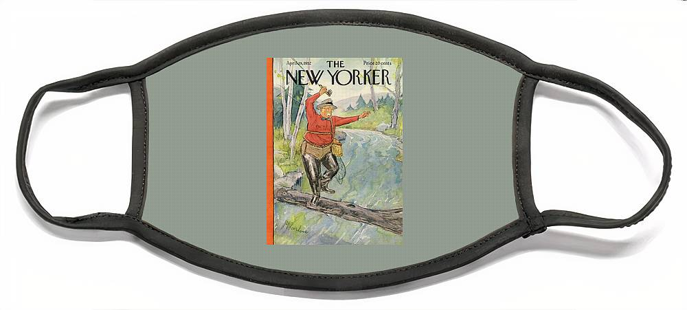 New Yorker April 19th, 1952 Face Mask