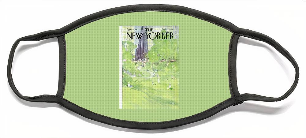 New Yorker April 24th, 1971 Face Mask
