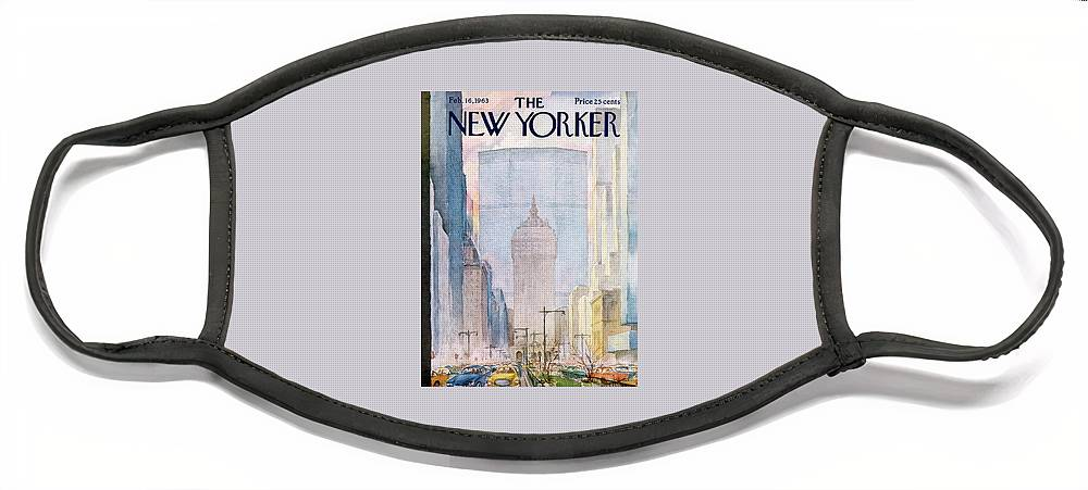 New Yorker February 16th, 1963 Face Mask