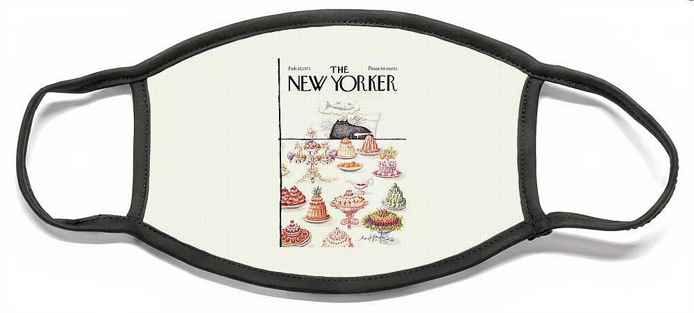New Yorker February 17th, 1973 Face Mask