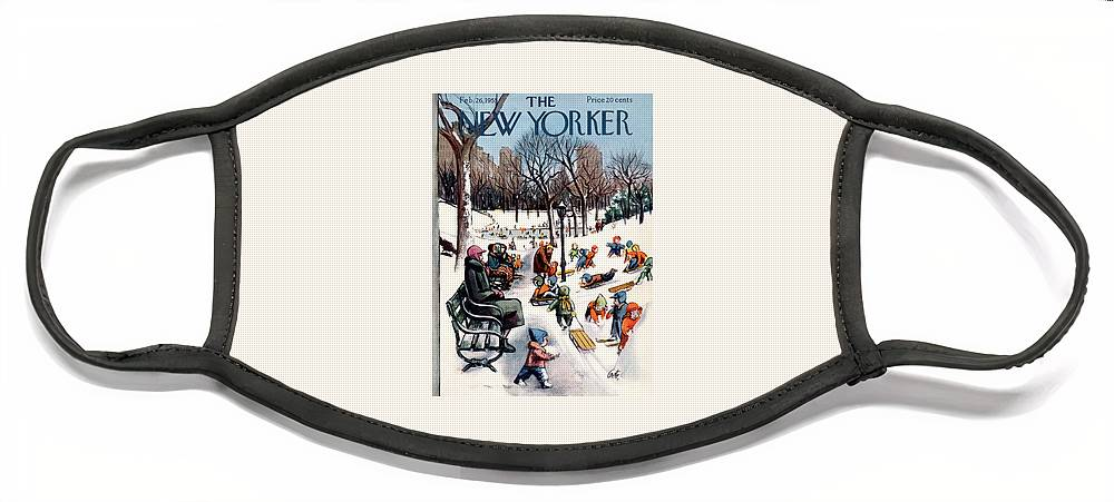 New Yorker February 26th, 1955 Face Mask