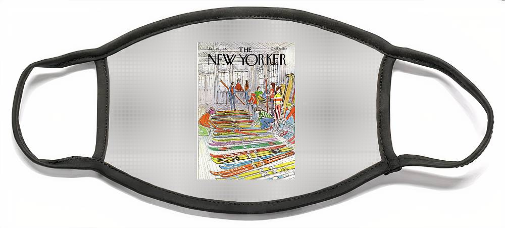 New Yorker January 21st, 1980 Face Mask