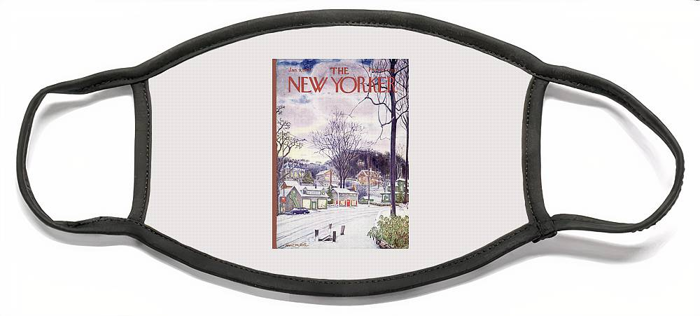 New Yorker January 9th, 1965 Face Mask
